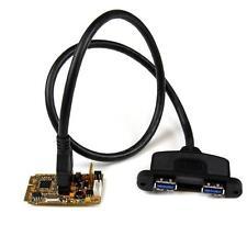 StarTech MPEXUSB3S22B 2 Port SuperSpeed Mini PCI-E USB 3.0 Adapter Card w/ UASP