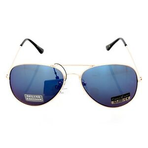 New Unisex Classic Trendy Airforce Gold Aviator Fashion Sunglasses 8AF101-GDRV
