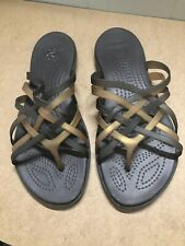 CROCS Women's Strappy Rubber Jelly Sandals Size 10 Brown