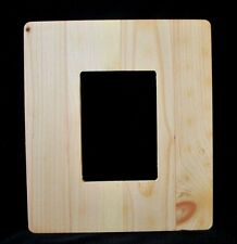 "2 Unfinished Wood Picture / Mirror FRAMES  - 12-1/2""  x  11"" --  crafts"