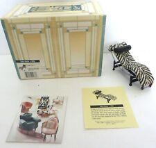Vintage Take A Seat By Raine Miniature Dollhouse Zebra Chaise c.1928 #24033