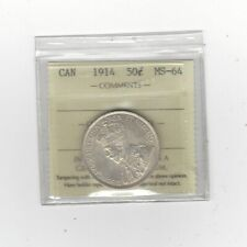 **1914** ICCS Graded Canadian 50 Cent, **MS-64**