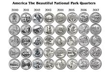 2010 - 2017 ATB NATIONAL PARK 40 COIN QUARTER SET Philadelphia Mint