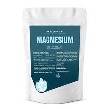 MAGNESIUM GLUCONAT PULVER | 500g-1000g reines Magnesium | 100% rein Ohne Zusätze