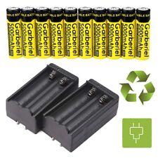 10PCS GARBERIEL 3.7V 18650 Battery Li-ion 5000mAh Rechargeable Battery+2XCharger