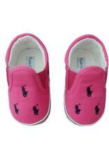 Ralph LAUREN Bebé Niñas Bal Harbour Zapatos De Cuna Rosa/Azul Marino-UK 2.5 Nuevo Y En Caja