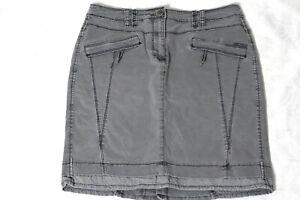 CECIL Rock Gr. 38 grau-rauchblau kurz Baumwolle Stiefel Jeans Rock