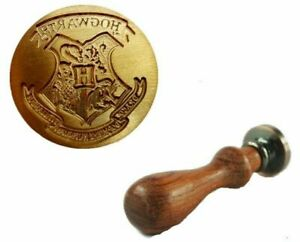 Harry Potter Hogwarts Brass Wax Seal Stamp Supplied With Wooden Handle