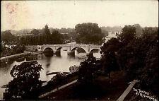 Richmond England s/w AK 1913 gelaufen The Thames Blick auf due Themse Brücke