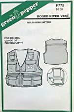 Green Pepper Rogue River Vest for Fishing,Cargo Pattern F775 Size XS-XL UNCUT