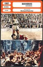 BARABBAS - Quinn,Mangano,Kennedy,Fleischer (Fiche Cinéma) 1962 - Barabba