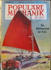 Populäre Mechanik Februar 1957 Nr. 2 Monatsschrift
