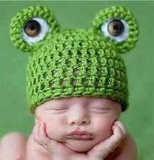 Süße Baby Mütze Frosch Fotoshooting Grün Häkelmütze Fröschlein Strickmütze Kind