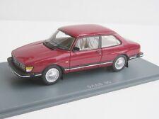 Saab 90 2-DOOR Cherry Red 1985 1/43 NEO Scale Models Neo 43672 Limousine Sedan