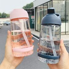 Water Bottle with Straw Plastic BPA Free Leakproof Portable Drinks Mugs Sports