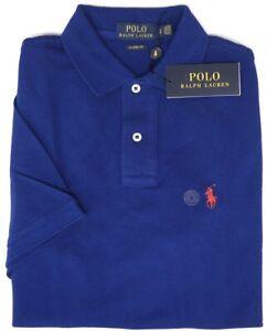 Polo Ralph Lauren Short Sleeve Classic Fit Shirt Mens Blue Mesh NEW $89 Cotton