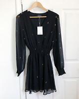 & Other Stories Dress BNWT Chiffon Evening Spade Detail Size M 12-14 Black
