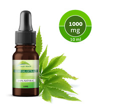 Valley Health Hemp Oil Extract 10% 1000mg. Full Spectrum. Organic. 10ml.