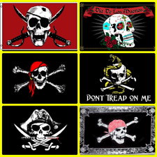 (6 Pack) 3x5 Pirate Flag Flags Pirates of the Caribbean Collection Set (#1)