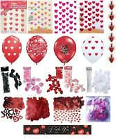Romantic Decorations Banners Rose Petals Wedding Engagement Confetti Balloons