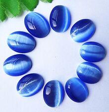10pcs Beautiful blue oval Cat Eye stone CAB cabochon 18x13x5mm BA4205