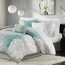 Madison Park MP10-2641 Cotton Sateen Printed 7cps Comforter Set NEW