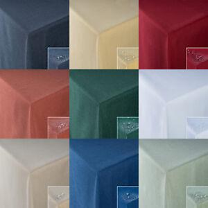 TISCHDECKE Fleckschutz Leinenoptik Lotuseffekt abwaschbar in Rund-Eckig-Oval