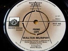 """WALTER MURPHY - RHAPSODY IN BLUE  7"""" VINYL PROMO"""