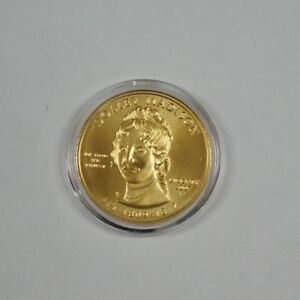 2007-W $10 Dolley Madison Commem Gold BU Coin w/ Mint Issued Wooden Case & COA