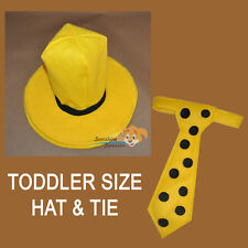 TODDLER  Man with the yellow HAT and Tie costume party halloween SCHOOL function