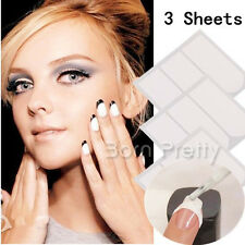3 Sheets Strip Tape French Manicure Tip Guides DIY Stickers Nail Art Toes Tools