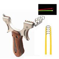 Steinschleuder Zwille Katapult Holzgriff Jagdschleuder mit 5er Gummibändern