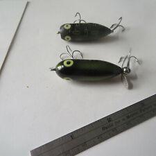 Fishing Lure Heddon Wood Tiny Torpedo Green And Black Plastic