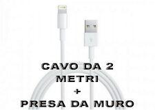 Mini Carica Batteria Usb da Muro Bianco Per Iphone 6S Plus 5C 5S iPod Cavo 2 Mt