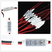 5Pcs Mini 12V 3 Key Dimmer Single Color Controller for 5050 3528 LED Light Strip