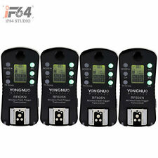 4x Yongnuo Wireless Flash Trigger RF-605N LCD For Nikon D5200 D5100 D3100 D90