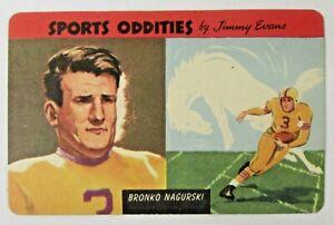 1954 Quaker Sports Oddities #26 BRONCO NAGURSKI Quaker Cereal premium card