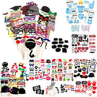 Party Wedding Photo Booth Props Mustache On A Stick Photography Mr & Mrs