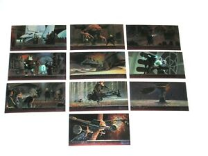 1996 STAR WARS WIDEVISION RETURN OF THE JEDI TOPPS FINEST CHROMIUM 10 CARD SET!