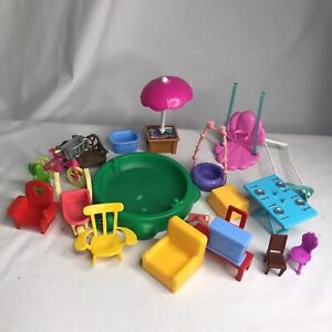 Lot dollhouse furniture Little Tikes Turtle Sandbox No Lid
