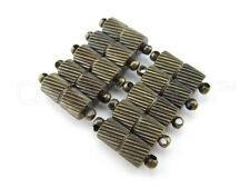 10 Magnetic Clasp Converters - Spiral Style - Bronze Color - Jewelry Necklace