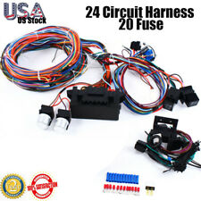 New 12v Street Hot Rat Muscle Rod Wiring 24Circuit Universal Wire Harness 20Fuse