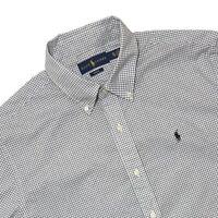Ralph Lauren Mens Slim Fit Shirt Black White Checked Shirt LS - XL L Genuine