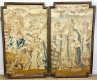 A Pair of 17th c. French Embroideries of Saint Denis' Decollation into Sainthood