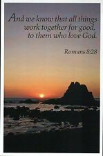 Romans 8:28 Bible Quote, God, Lord --- Religious & Inspirational Modern Postcard