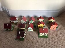 Vintage Faller Model village houses lodges