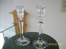 Waterford Marquis Crystal Candle Holders Sorrento Pattern Set Of Two Signed