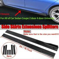 78.7'' 2M Universal Side Skirt Extension Rocker Panel Splitter Lip Polypropylene