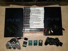 Top!2xSony Playstation 2 PS2 Konsole + 2 Controller + 4 Memory Cards + 15 Spiele