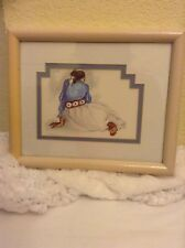 Woman With Concho Belt Framed  Matted Print 8 x 10 R C Gorman 1976